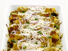 Chicken-and-Cheese Enchiladas: Save time and energy in the kitchen by picking up a store-bought rotisserie chicken to use in this Mexican-style supper. #RecipeOfTheDay