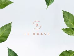 "Le Brass Branding by Tatabi Studio ""Le Brass is a Sleek & Stylish Homeware Brand, born in Australia. The company asked us to create a feminine, minimalist brand, with a touch of elegance and luxury. Nature, relax & paradise beaches, combined with..."