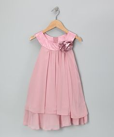 Take a look at this Pink Flower Yoke Dress - Toddler & Girls by Kid's Dream on #zulily today!