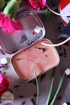 DIY tropical orange hibiscus lip balm recipe
