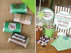 Football Themed 7th Birthday Party with Lots of Cute Ideas via Kara's Party Ideas | KarasPartyIdeas.com #SportsParty #SuperbowlParty #PartyIdeas #Supplies (9)