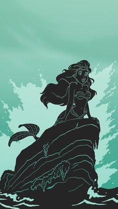 Paper-cut Inspired Disney Princess image- Ariel