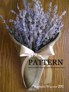 Toile de jute Pew cône PDF Sewing Pattern ePattern pour votre mariage DIY. Modèle de décoration de mariage rustique.
