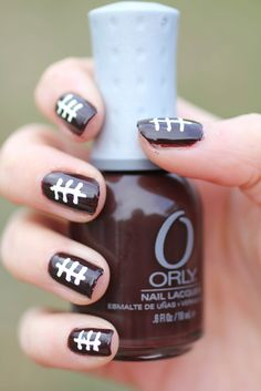 Glimmer and Glitter - A Nail Polish Blog: Football Nail Art