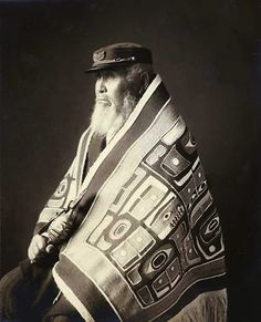 Chief Anotklosh of the Taku Tribe, wearing a Chilkat blanket, Juneau, Alaska, ca. 1913