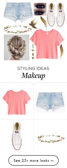 Ootd by teenwolfluver11 on Polyvore featuring Zara, Converse and HM