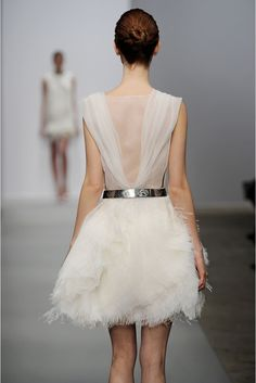 NSPO: Sea winds will make this an interactive dress with constant movement. A great alternative to feathers.