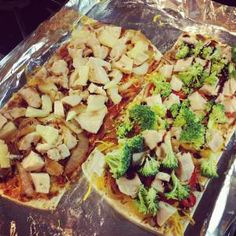 Healthy BBQ Pizza:  Calories: 372 Carbs: 38.9g Protein: 33.5g Fat: 10.5g #PFITblog #fitfluential #cooking #diet #fitness
