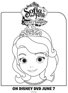 Disney Sofia the First Coloring Page