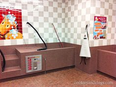 -Repinned- Dog wash stations.