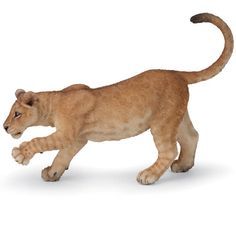 Lioness Young Papo figurine   Worldwide Shipping www.minizoo.com.au