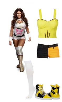 """""""Going up against Eve for the divas tittle"""" by directioner356 ❤ liked on Polyvore featuring moda, Coleman y Gold Toe"""