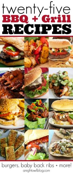 Yum! So many great ideas for the grill - burgers, ribs and more!