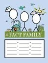 I tell the kids that every fact family has a Daddy, Mommy and Baby.  (That's the large, medium and small numbers.)  We use these numbers to make up two adding and two subtracting sentences.