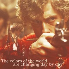 Red- the blood of angry men Black- the color of ages past Red- a world about to dawn Black- the night that ends at last!