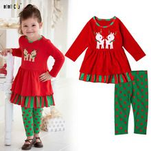 5a97c7daec98 2016 Christmas Clothes Casual Spring Autumn Girls Clothes Sets Full Sleeve  Character Kids Outfits Sets For