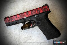 Red handgun with lace detail. perfect for my character Alyssa