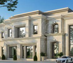Classic House Exterior, Classic House Design, Modern Exterior House Designs, Dream House Exterior, Luxury Homes Exterior, House Outside Design, Contemporary House Plans, Villa Design, Facade House