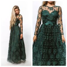 Vintage dress/ Lace dress/FORMAL dress/Evening by Raxclothing, $129.99