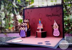 Birthday Owl Pop-Up Card | Stamp and Doodle