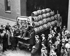 Prohibition - A beer truck leaves the brewery the first day Congress legalizes its sale in 1933