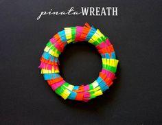 Pinata Wreath for Cinco de Mayo