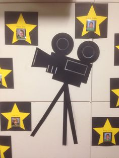 Movie camera for Hollywood themed Yr7 graduation.