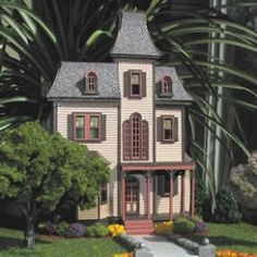 scale Beacon Hill dollhouse by Kathy Walsh Dollhouse Kits, Victorian Dollhouse, Dollhouse Dolls, Dollhouse Miniatures, Miniature Houses, Miniature Dolls, Beacon Hill Dollhouse, Little Houses, Small Houses