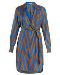 Diane von Furstenberg - Odeon Chevron-print Silk Satin-twill Shirtdress - Lyst Chevron, Shirtdress, Silk Satin, Von Furstenberg, Diane Von, Shirts, Fashion, Dress, Moda