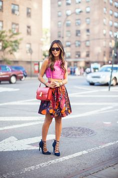#mcqueen skirt during New York Fashion Week Song of Style