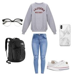 """""""Test day"""" by miricale on Polyvore featuring Converse, The North Face and Recover"""