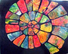 Ammonite Shell Nautilus Ocean Marine Animal by RickyArtGallery Abstract Watercolor, Abstract Art, Spiral Art, Aboriginal Art, Nautilus, Silk Painting, Art Plastique, Collage Art, Art Lessons