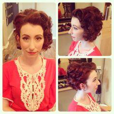Special occasion hair / Short hair hair and makeup sara Special Occasion Hairstyles, Retro Hairstyles, Short Hair Styles, Crochet Necklace, Hair Makeup, Fashion, Bob Styles, Moda, Crochet Collar
