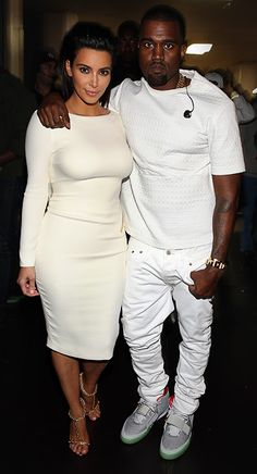 Kim Kardashian and Kanye West at the 2012 BET Awards in Los Angeles