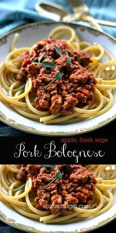 Easy Spaghetti Bolognese Recipe from Spinach Tiger Italian food, Ground Pork Recipe