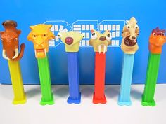I want all of these! Pez Ice Age dispensers