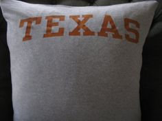 TEXAS T-Shirt Throw Pillow. by ThePastureRoad on Etsy