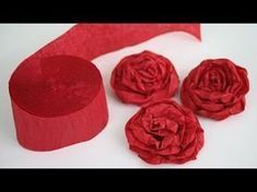 DIY rose paper - How to make paper flowers - Rose / Crepe paper rose flower / DIY beauty and easy How to Make Rose Tissue Paper Flowers - Flower Making of Ti. Paper Flowers Roses, Tissue Paper Roses, Crepe Paper Flowers Tutorial, Paper Flowers Craft, How To Make Paper Flowers, Large Paper Flowers, Diy Flowers, Tissue Paper Flowers Easy, Flower Paper
