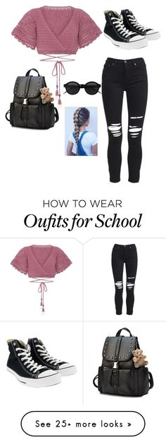 """Untitled #115"" by jellyfish12345 on Polyvore featuring SHE MADE ME, AMIRI and Converse"
