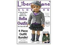 Liberty Jane Sofia Doll Clothes Pattern for American GIrl ® Dolls $11.99