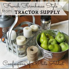 Farm House Chic Decor | French Farmhouse Style from Tractor Supply by Debbie from Confessions ...