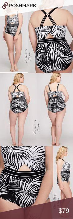 28d8a53fe0d5c CACIQUE Lane Bryant Swimsuit 1-Piece Plus Size Up for Sale is a Gorgeous  High