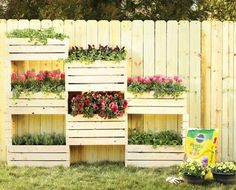 Stacked Planters  - CountryLiving.com