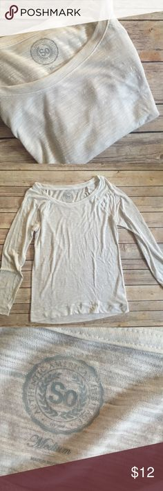 Medium Long Sleeve Layering Tee Long Sleeved Layering Tee, White, tag says size Medium but runs small (better for S IMO). Preloved condition but lots of life left! SO Tops Tees - Long Sleeve