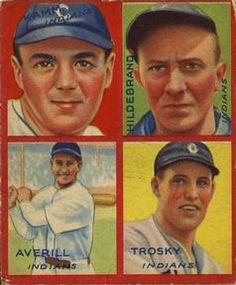 1935 Goudey 4-in-1 (R321) #5 Earl Averill / Oral Hildebrand / Willie Kamm / Hal Trosky Front