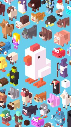 The game character of the game world I have been belonging to: Crossy Road