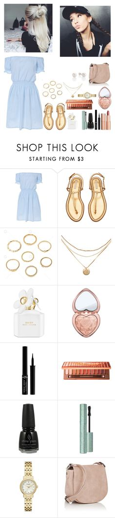 """""""celebrating our birthdays since we missed each other's ~Opal"""" by the-rxbbers-of-1975 ❤ liked on Polyvore featuring Charlotte Tilbury, Marc Jacobs, Too Faced Cosmetics, Giorgio Armani, Urban Decay, China Glaze, Kate Spade and Deux Lux"""