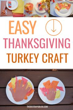 This Thanksgiving turkey craft is really easy to make. A fun activity to do with your toddler this year. Thanksgiving Crafts For Toddlers, Thanksgiving Turkey, Crafts For Kids, Tissue Paper Trees, Paper Feathers, Turkey Craft, Fun Activities To Do, Toddler Crafts, Halloween Crafts