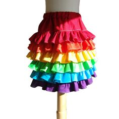 """rainbow skirt for the """"party outfit""""--Kelly can you do this?"""