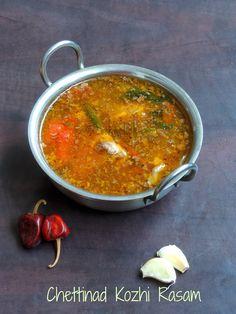 Cook N Click: Chettinad Kozhi Rasam/Chettinad Chicken Rasam Veg Recipes, Curry Recipes, Indian Food Recipes, Vegetarian Recipes, Cooking Recipes, Chicken Recipes, Chettinad Chicken, Spicy Stew, Chicken